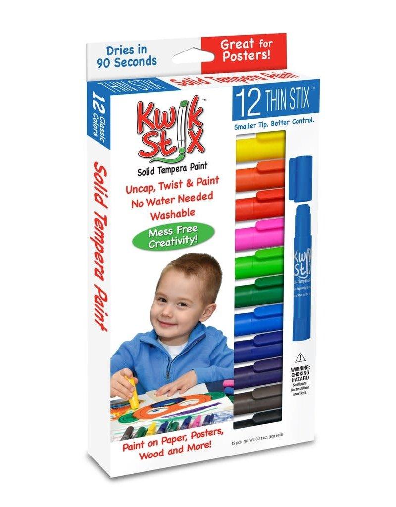 PENCIL GRIP 12PC KWIK STIX -  12 Classic Colors