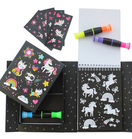 SCHYLLING NEON UNICORN AND FRIENDS COLORING SET