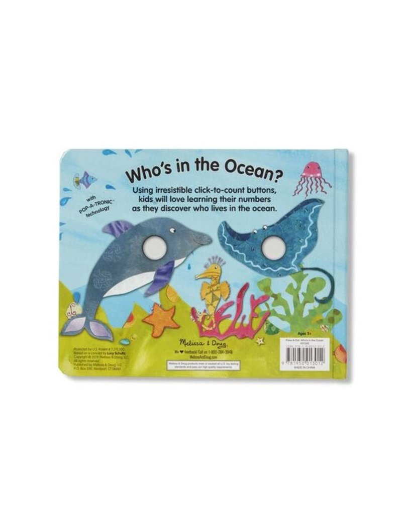 MELISSA & DOUG Poke-a-Dot!: Who's in the Ocean?