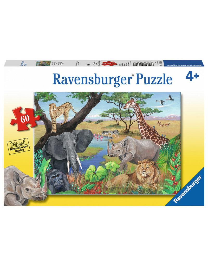 RAVENSBURGER Safari Animals 60PC