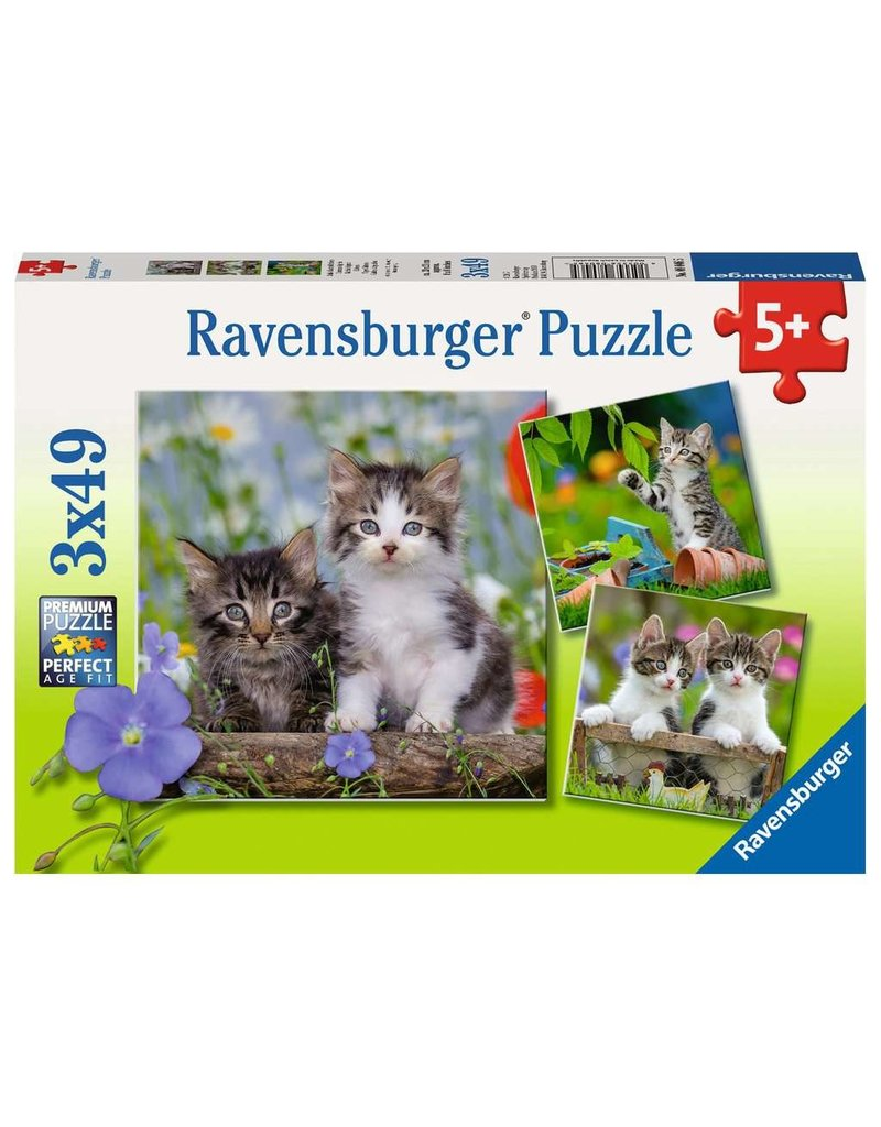 RAVENSBURGER CUDDLY KITTENS 3X49PC