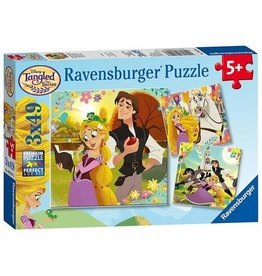 RAVENSBURGER Tangled TV Series (3 x 49 pc Puzzles)