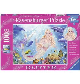 RAVENSBURGER Mermaid & Dolphins 100 pc Glitter Puzzle