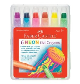 CREATIVITY FOR KIDS 6ct Neon Gel Crayons