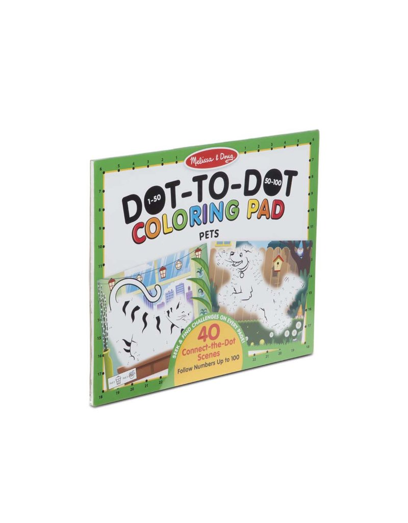 MELISSA & DOUG 123 Dot-to-Dot - Pets