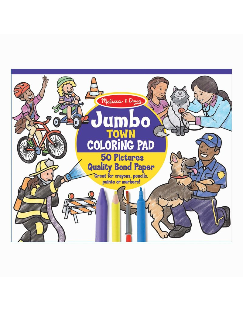 MELISSA & DOUG Jumbo Town Color Pad