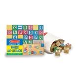 MELISSA & DOUG WOOD ABC/123 BLOCKS 2+