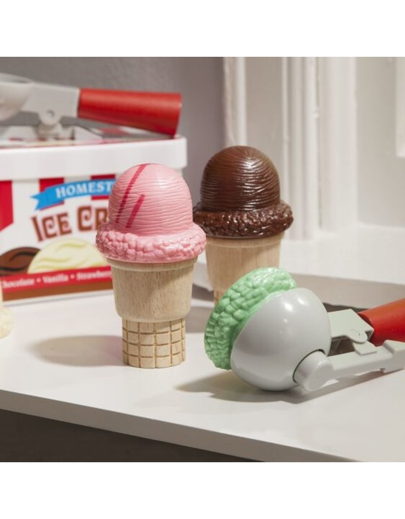 MELISSA & DOUG SCOOP AND STACK ICE CREAM SET