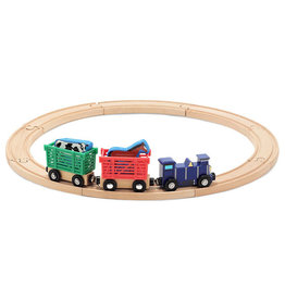 MELISSA & DOUG FARM ANIMAL TRAIN SET