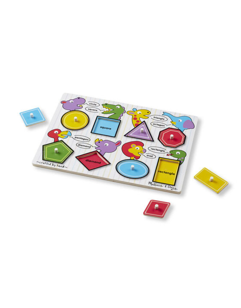 MELISSA & DOUG SHAPES PEG PUZZLE
