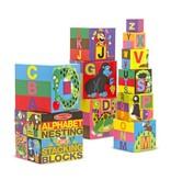MELISSA & DOUG Alphabet Nesting and Stacking Blocks (UC)