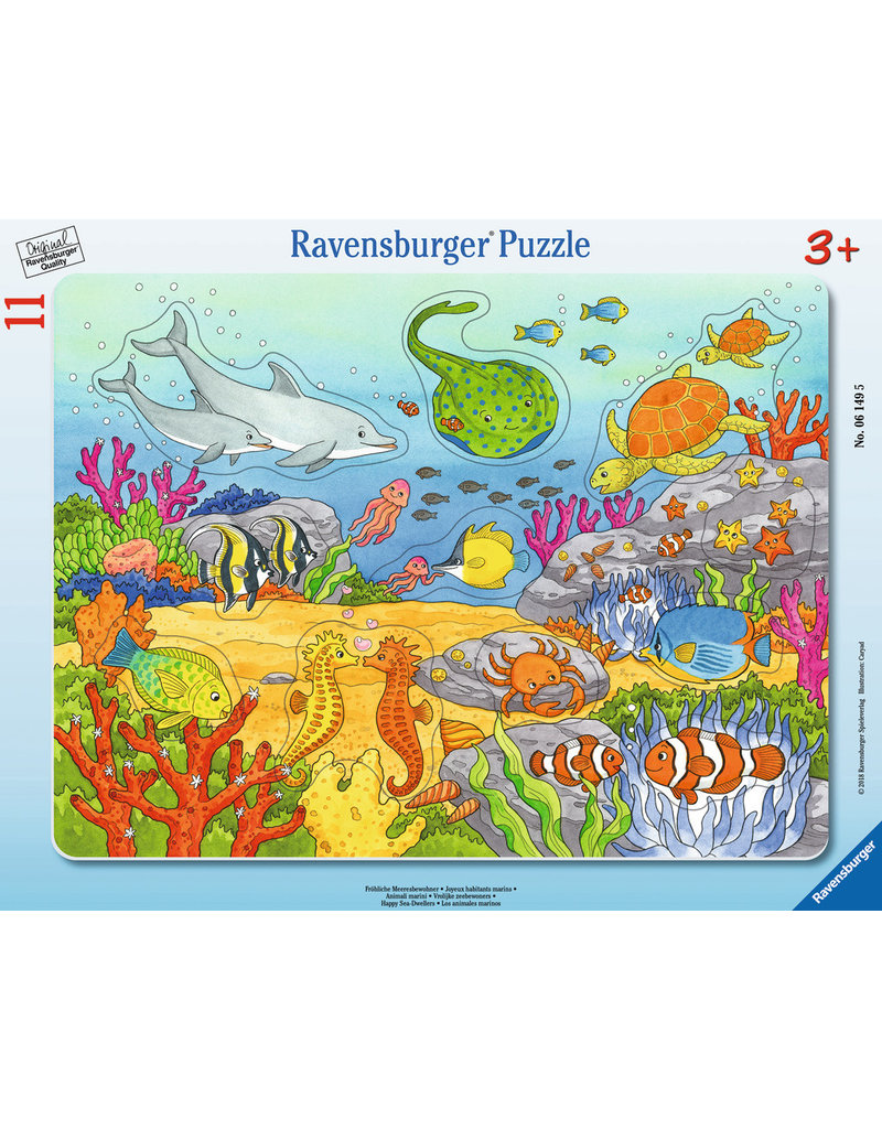 RAVENSBURGER Happy Sea Dwellers (11 pc Puzzle)