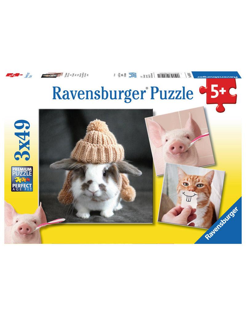 RAVENSBURGER Funny Animal Portraits 3X49