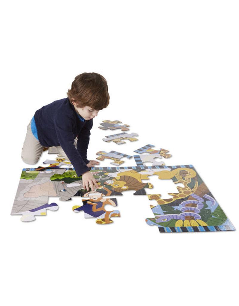 MELISSA & DOUG Safari Social Floor Puzzle (24 pc)