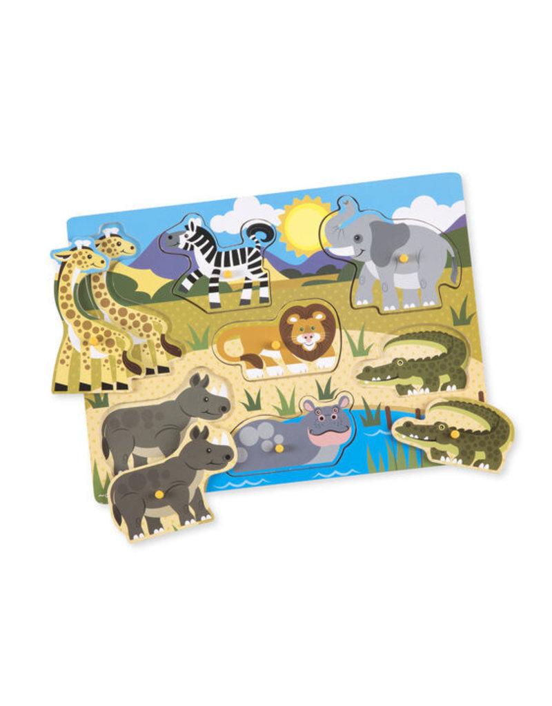 MELISSA & DOUG Safari Peg Puzzle