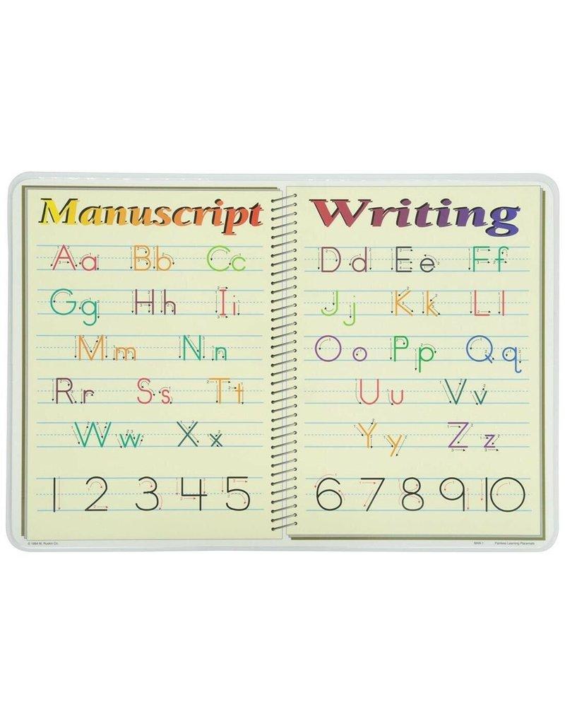 M RUSKIN MANUSCRIPT WRITING PLACEMAT
