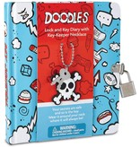 PEACEABLE KINGDOM DOODLE DIARY WITH KEY-KEEPER NECKLACE