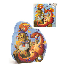 DJECO Silhouette Puzzles Vaillant And The Dragon - 54pcs