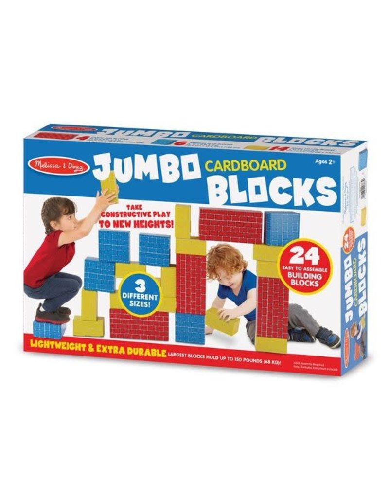 MELISSA & DOUG Jumbo Cardboard Blocks (24pc)