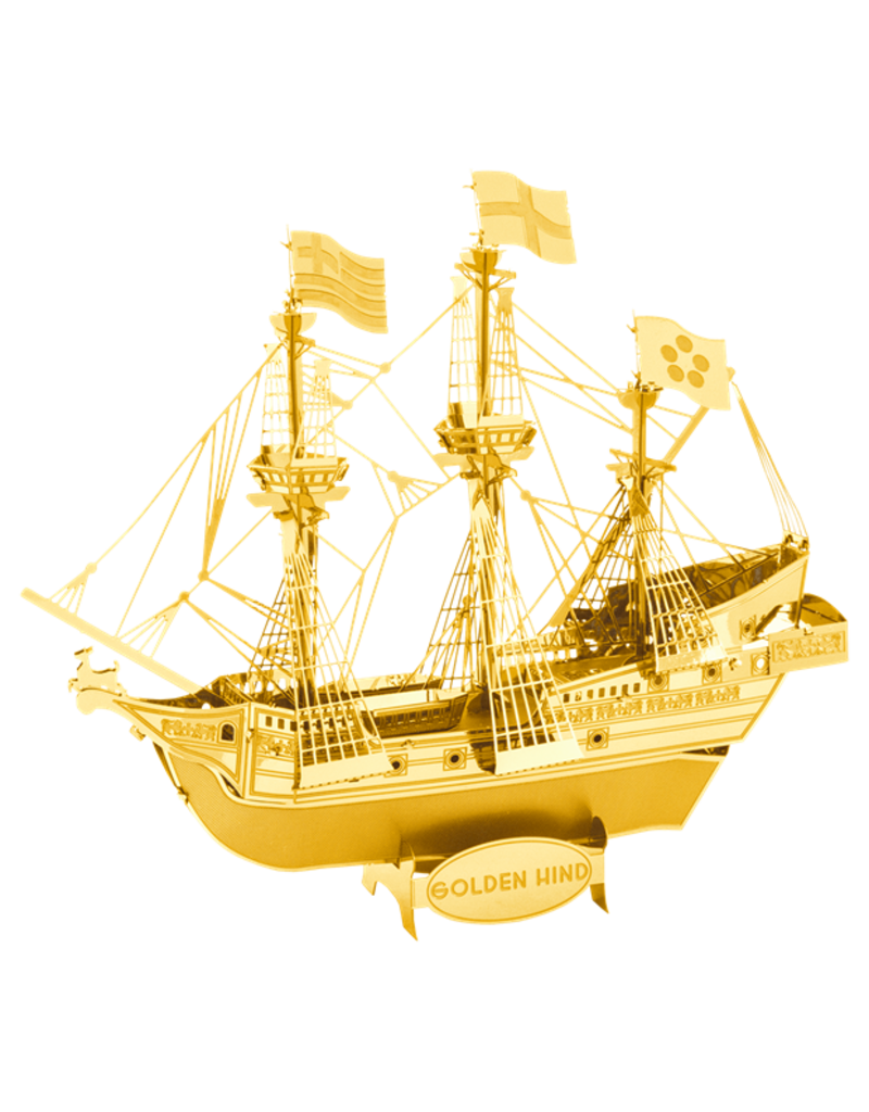 FASCINATIONS Metal Earth Golden Hind ship - GOLD