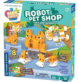THAMES & KOSMOS Kids First Robot Pet Shop: Owls, FRENCH BULL DOG, Sloths, and More!
