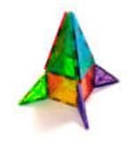 VALTECH MAGNA-TILES Clear Colors 32 Piece Set