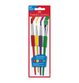 CREATIVITY FOR KIDS 4 Pack Soft Grip Brushes