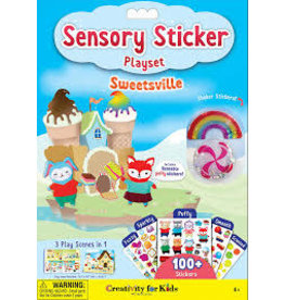 CREATIVITY FOR KIDS SWEETSVILLE SENSORY STICKER PLAYSET