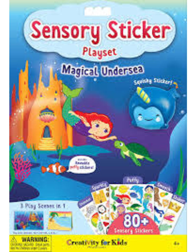CREATIVITY FOR KIDS UNDERSEA SENSORY STICKER PLAYSET