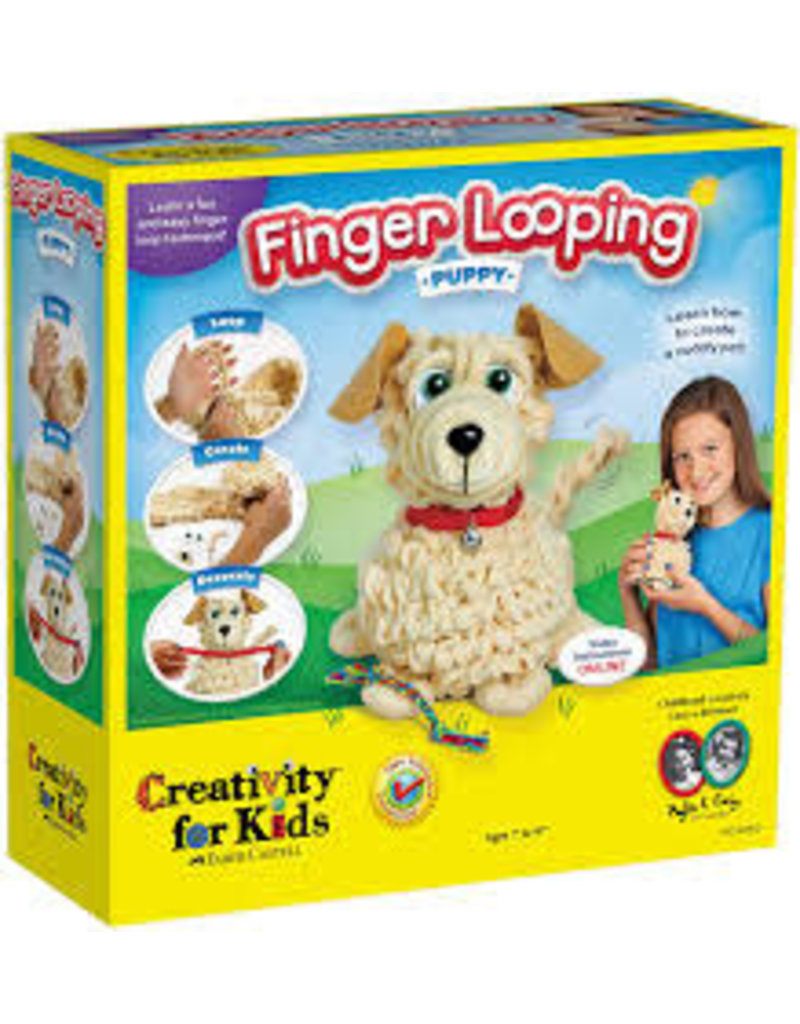 CREATIVITY FOR KIDS PUPPY FINGER LOOPING