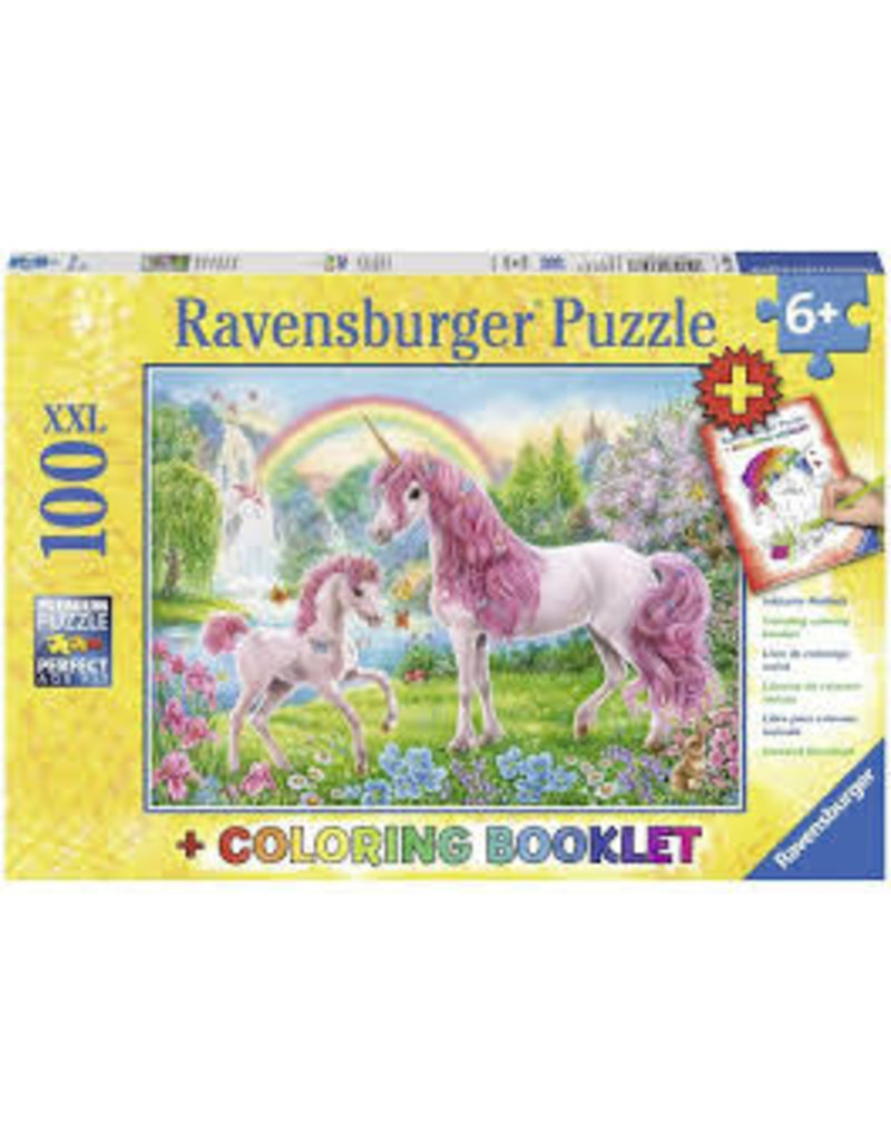 RAVENSBURGER Magical Unicorns 100PC +CB