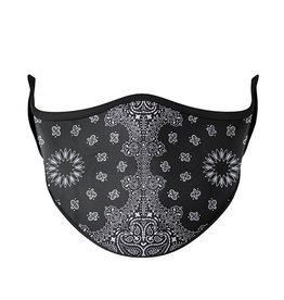 TOP TRENDS BLACK BANDANA MASK 8+