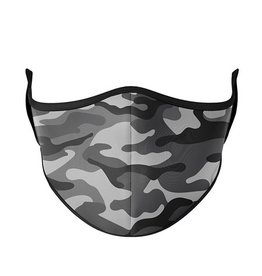 TOP TRENDS GRY/BLK CAMO MASK 8+