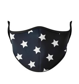TOP TRENDS NAVY/WHITE STARS FACE MASK 8+