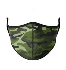 TOP TRENDS GREEN CAMO MASK ADULT
