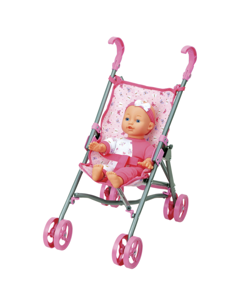 FAMILY GAMES BABY DOLL WITH STROLLER