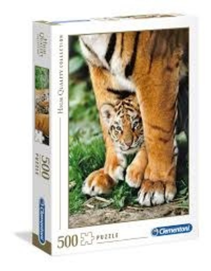 CREATIVE TOY Bengal Tiger Cub Between its Mother's Legs - 500 pc puzzle