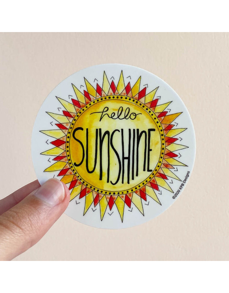 KPB DESIGNS STICKERS SUNSHINE STICKER