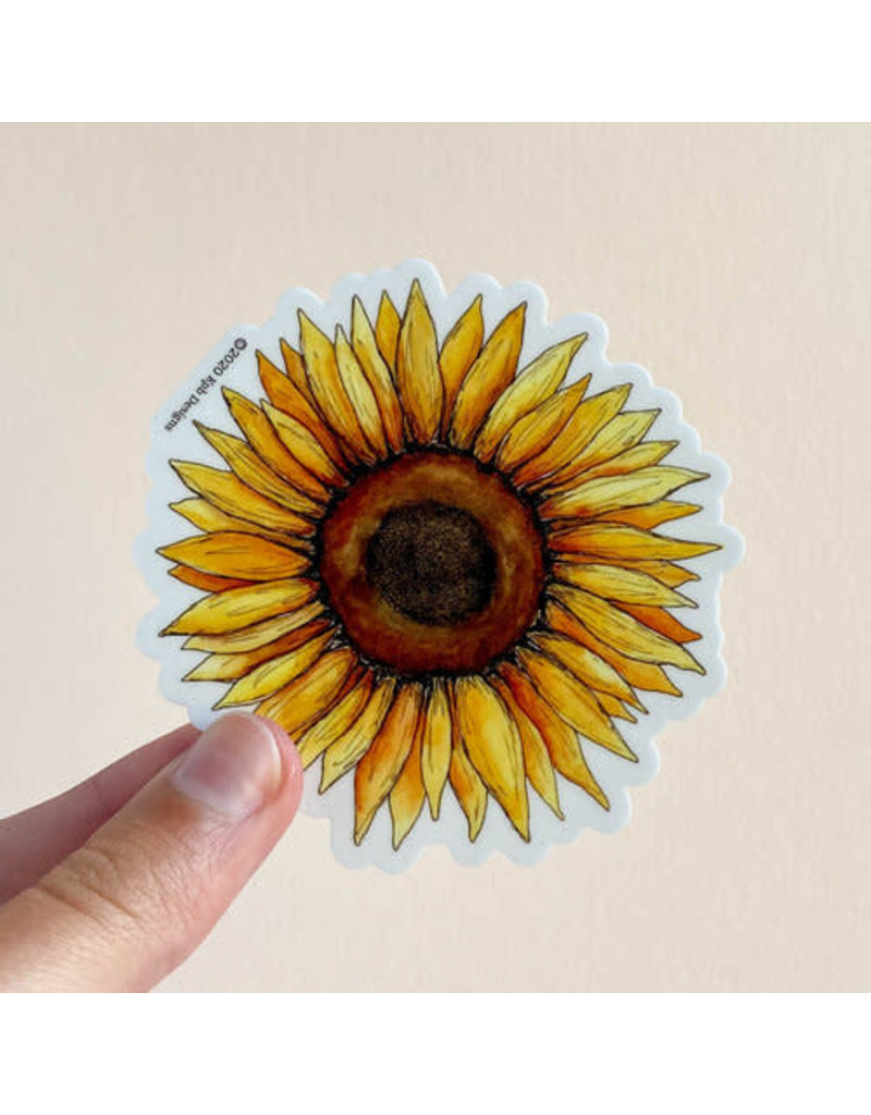 KPB DESIGNS STICKERS SUNFLOWER STICKER