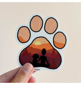 KPB DESIGNS STICKERS DOG PAW STICKER