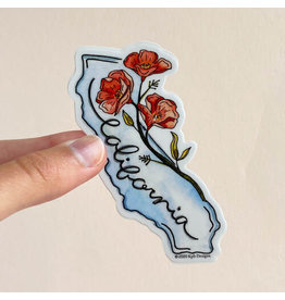 KPB DESIGNS STICKERS CALIFORNIA FLOWER STICKER