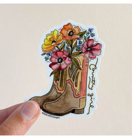 KPB DESIGNS STICKERS COUNTRY GIRL STICKER