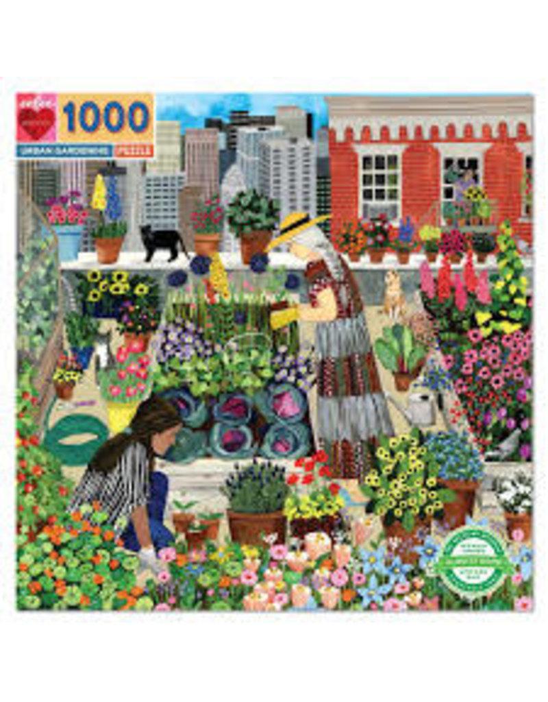EEBOO Urban Gardening 1000 Pc Sq Puzzle