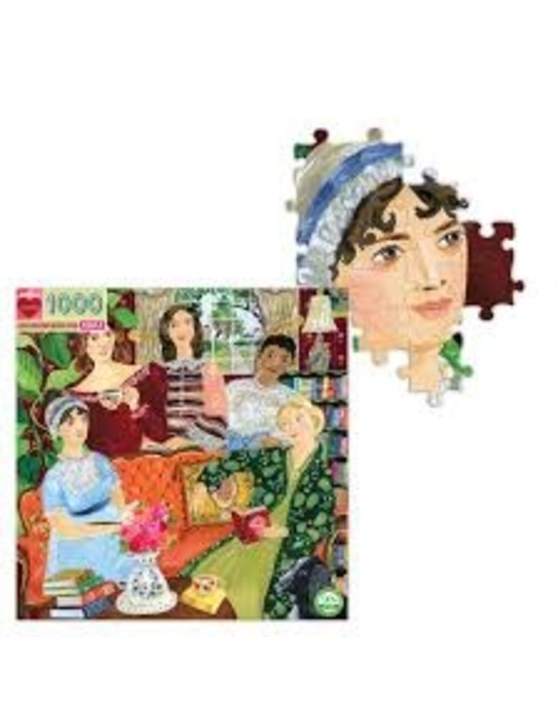 EEBOO Jane Austen's Book Club 1000 Pc Sq Puzzl
