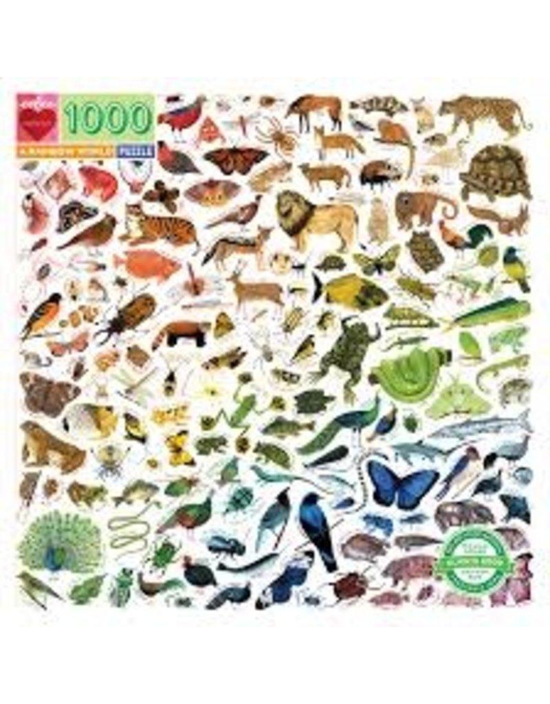EEBOO A Rainbow World 1000 Pc Sq Puzzle