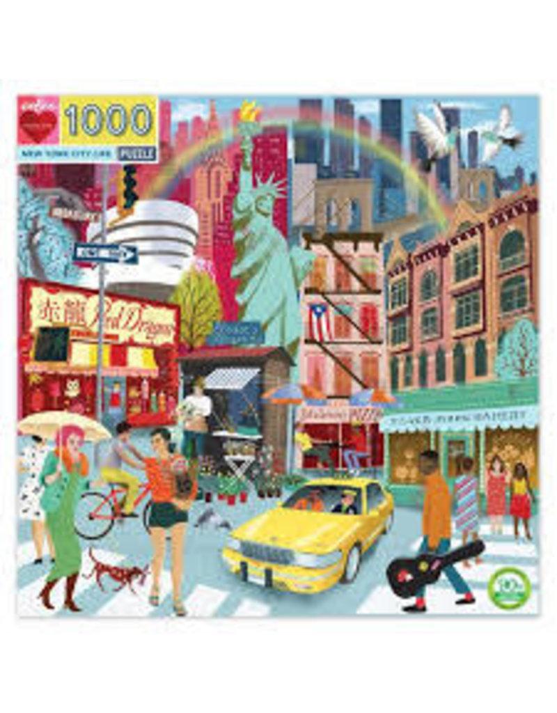 EEBOO New York City Life 1000 Pc Sq Puzzle