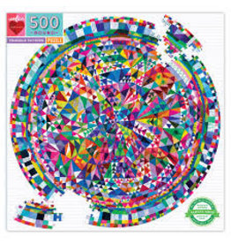 EEBOO Triangle Pattern 500pc Round Puzzle