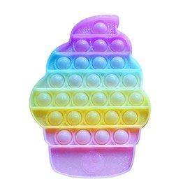 TOP TRENZ Pop Fidgety Glitter Ice Cream Cone