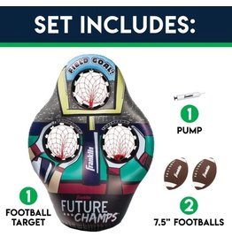 FRANKLIN SPORTS Kid's Inflatable 3 Hole Football Target