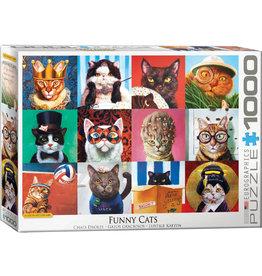EUROGRAPHICS Funny Cats by Lucia Heffernan 1000PC